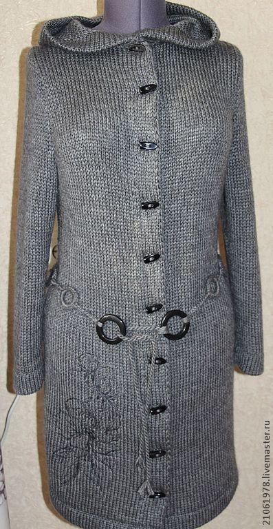 """Кофты и свитера ручной работы. Ярмарка Мастеров - ручная работа. Купить Кардиган """" Магнолия"""". Handmade. Темно-серый, пальто"""