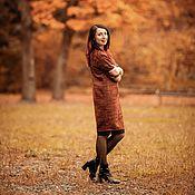Одежда ручной работы. Ярмарка Мастеров - ручная работа платье-баллон из итальянского твида. Handmade.