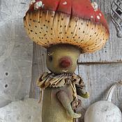 Куклы и игрушки ручной работы. Ярмарка Мастеров - ручная работа мухомор Крыжик. Handmade.
