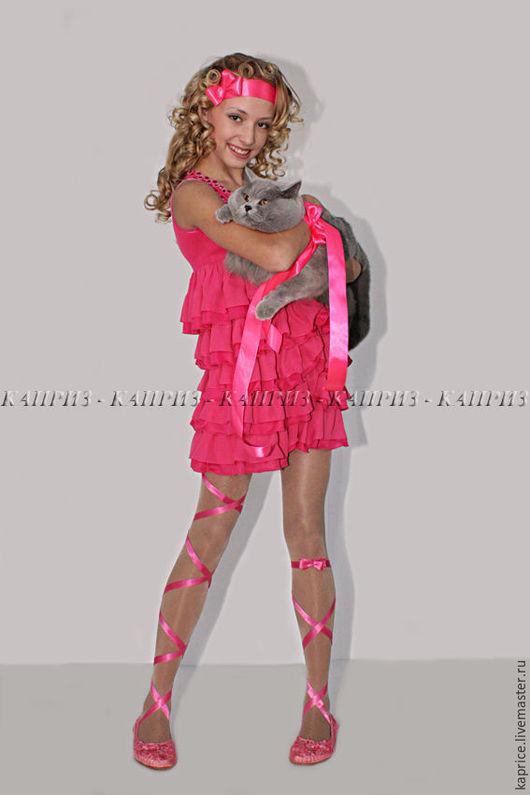 Коктельное платье розовое