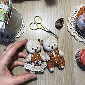 Мягкие игрушки ручной работы. Ярмарка Мастеров - ручная работа Влюбленные мишки. Handmade.
