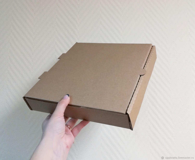 Коробка 26х26х4,5 см плоская крафт из микрогофрокартона, Коробки, Архангельск,  Фото №1