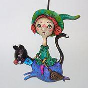 Куклы и игрушки ручной работы. Ярмарка Мастеров - ручная работа Гермина (небольшая подвесная кукла). Handmade.