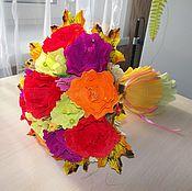 """Цветы и флористика ручной работы. Ярмарка Мастеров - ручная работа Букет """" Яркий"""". Handmade."""