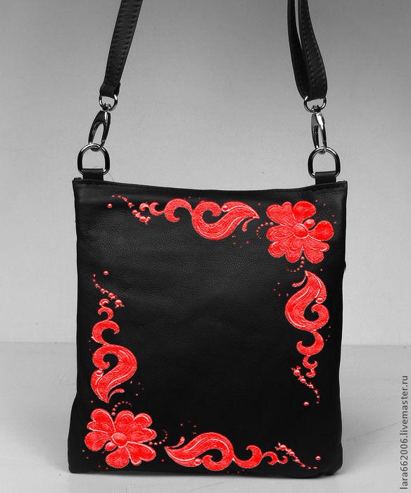 bag 'red-and-black fantasy', Classic Bag, Taganrog,  Фото №1