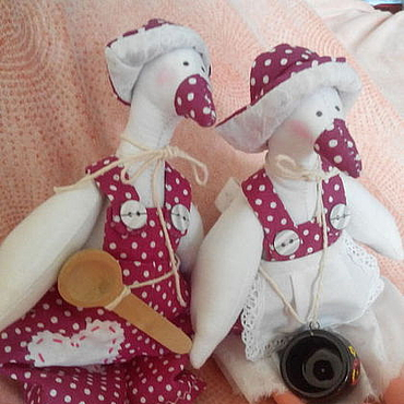 Куклы и игрушки ручной работы. Ярмарка Мастеров - ручная работа Тильда гуси (семейная пара). Handmade.