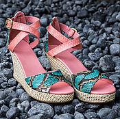 Обувь ручной работы handmade. Livemaster - original item Shoes made of genuine Python leather Fiona. Handmade.