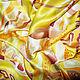 """Шарфы и шарфики ручной работы. Ярмарка Мастеров - ручная работа. Купить Шарф батик """"Золотые джунгли"""". Handmade. Желтый"""