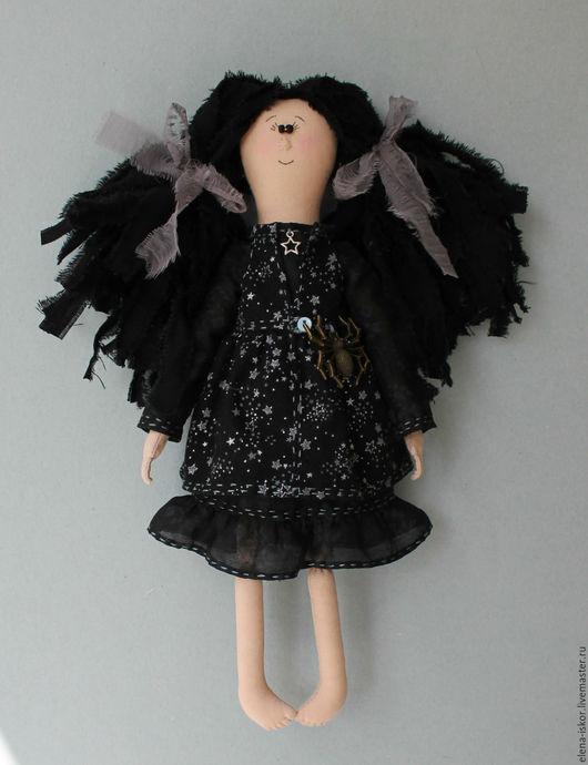 Коллекционные куклы ручной работы. Ярмарка Мастеров - ручная работа. Купить Текстильная кукла Девочка в черном. Handmade. Черный