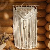 Картины и панно handmade. Livemaster - original item Light grey medium macrame wall hanging boho style, extra large natural. Handmade.