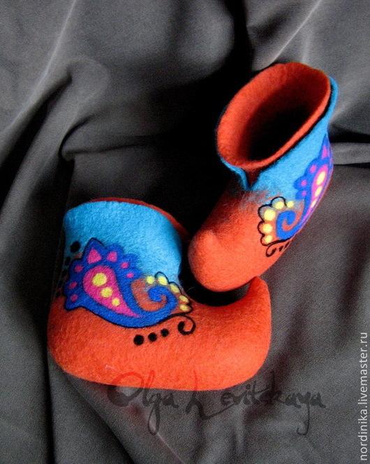 """Обувь ручной работы. Ярмарка Мастеров - ручная работа. Купить Детские  теплые красивые домашние валенки """"ВОСТОЧНАЯ СКАЗКА"""". Handmade."""