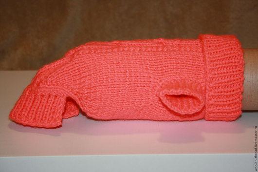 Одежда для собак, ручной работы. Ярмарка Мастеров - ручная работа. Купить Вязаный свитер для собаки. Handmade. Коралловый, одежда для собак