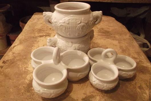 Салатники ручной работы. Ярмарка Мастеров - ручная работа. Купить Троешки маленькие. Handmade. Декор для интерьера, керамический, глиняная кружка