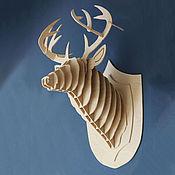Для дома и интерьера handmade. Livemaster - original item Deer head. Handmade.