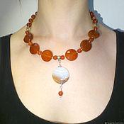 Украшения handmade. Livemaster - original item Carnelian necklace natural carnelian and agate. Handmade.
