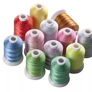 Материалы для творчества ручной работы. Ярмарка Мастеров - ручная работа Нитки для вышивки 12 цветов 500 метров. Handmade.