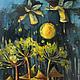 """Фантазийные сюжеты ручной работы. Ярмарка Мастеров - ручная работа. Купить """"Хранители Мира"""". Handmade. Масло, картина, картина в подарок"""