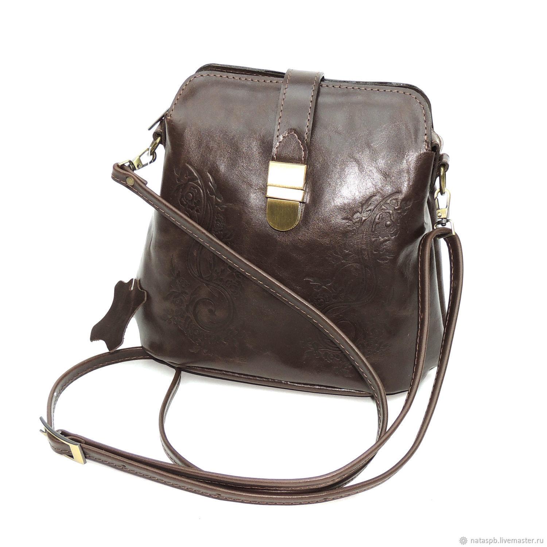 Women's brown leather handbag ASTA Mod S42-62, Crossbody bag, St. Petersburg,  Фото №1
