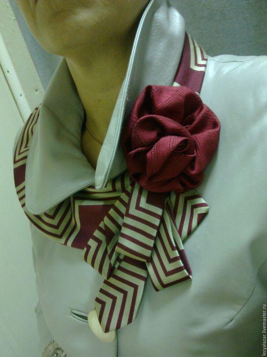 Воротнички ручной работы. Ярмарка Мастеров - ручная работа. Купить Украшение из винтажных галстуков. Handmade. Украшения ручной работы, шарф
