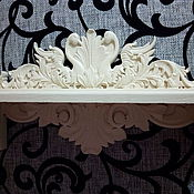 Для дома и интерьера ручной работы. Ярмарка Мастеров - ручная работа Полка резная лебеди. Handmade.