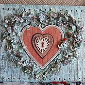 """Картины и панно ручной работы. Ярмарка Мастеров - ручная работа Панно """" Цветочное сердце"""". Handmade."""