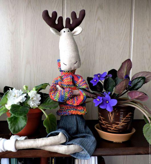 Куклы Тильды ручной работы. Ярмарка Мастеров - ручная работа. Купить Лосик тильда. Handmade. Лось Тильда, вискоза