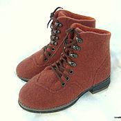 """Обувь ручной работы. Ярмарка Мастеров - ручная работа Ботинки женские """"Лисички`. Handmade."""