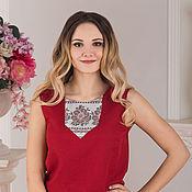 Одежда handmade. Livemaster - original item Linen blouse Chervona Ruta. Handmade.