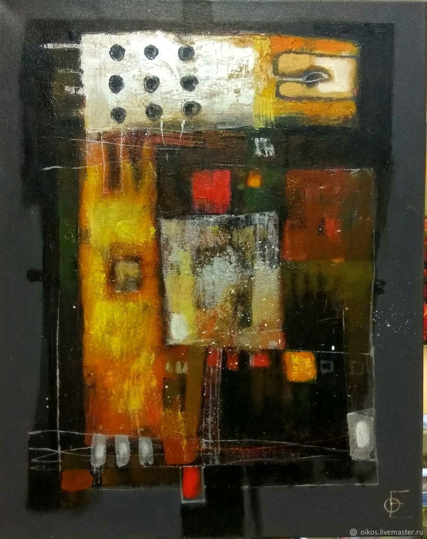 Abstract Painting Black Yellow Orange Silver Kupit Na Yarmarke Masterov H8ebfcom Kartiny St Petersburg