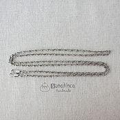 Материалы для творчества ручной работы. Ярмарка Мастеров - ручная работа Цепочка для сумки 120 см под серебро ручка для сумки. Handmade.