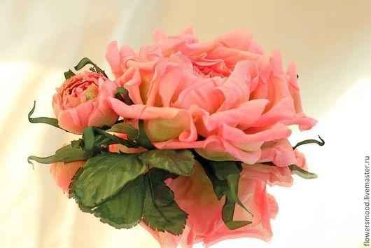 """Цветы ручной работы. Ярмарка Мастеров - ручная работа. Купить Роза """"В саду Версаля"""". Handmade. Цветы из ткани, брошь"""