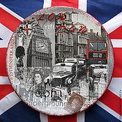 """Посуда ручной работы. Ярмарка Мастеров - ручная работа """"Лондон"""", декоративная тарелочка. Handmade."""