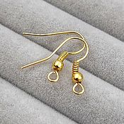 Материалы для творчества handmade. Livemaster - original item Shvenzy hooks 18 mm under gold (172-Z). Handmade.