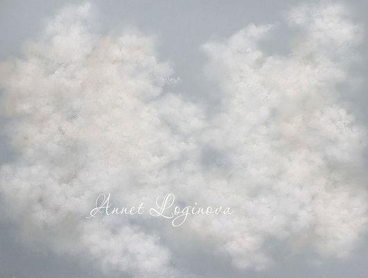 Пейзаж ручной работы. Ярмарка Мастеров - ручная работа. Купить Зефирные облака. Handmade. Облака, картина пастелью, картина в спальню