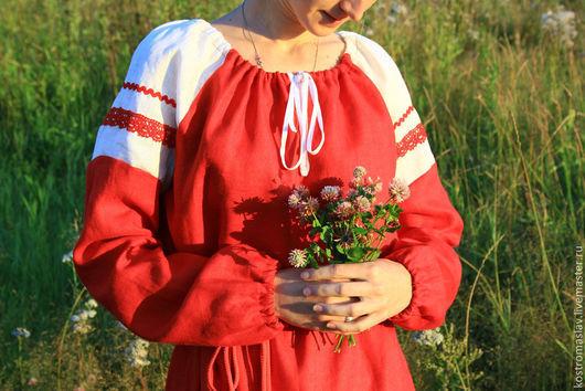 рубашка женская праздничная купить,русский стиль, рубаха из льна, рубаха с вышивкой, славянская обрядовая одежда, рубаху на заказ, рубашка льняная женская, рубаха изо льна, славянский стиль