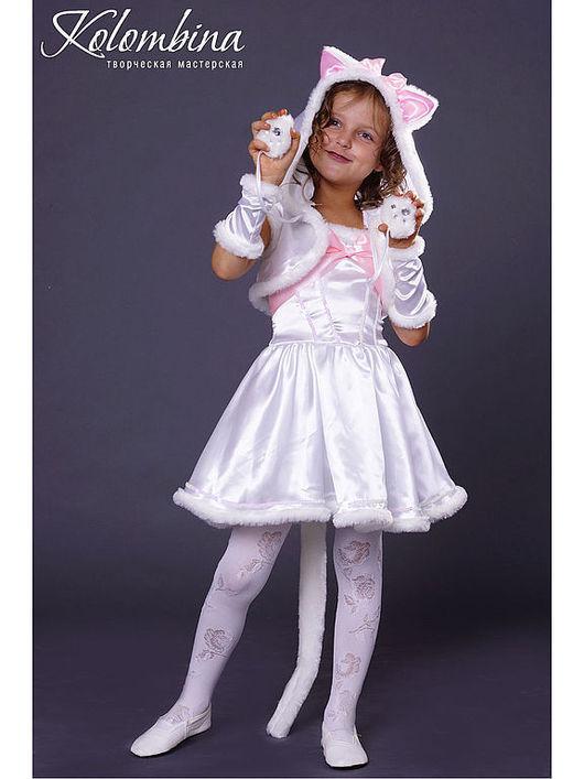 Купить карнавальный костюм кошки белый - белый, костюм ... - photo#5