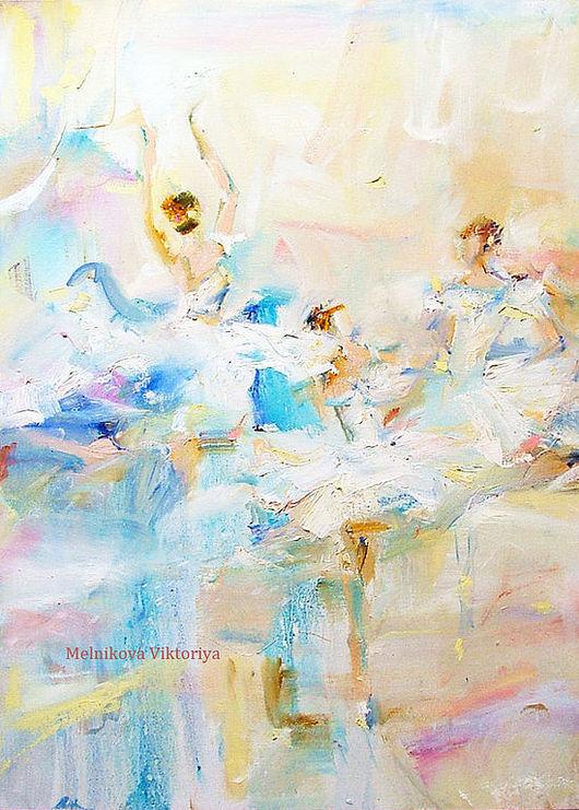 """Абстракция ручной работы. Ярмарка Мастеров - ручная работа. Купить Картина маслом """"le ballet"""" диптих- возможно сделать АРТ принт. Handmade."""