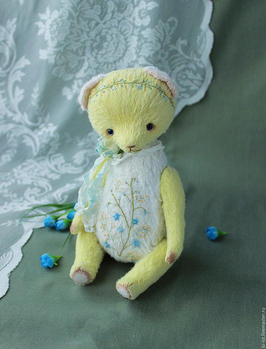 Мишки Тедди ручной работы. Ярмарка Мастеров - ручная работа. Купить Первоцветик. Handmade. Лимонный, зеленый, 8 марта, нежность