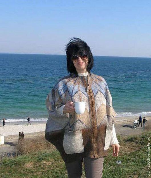 Верхняя одежда ручной работы. Ярмарка Мастеров - ручная работа. Купить Валяная куртка-парка. Handmade. Орнамент, валяная одежда