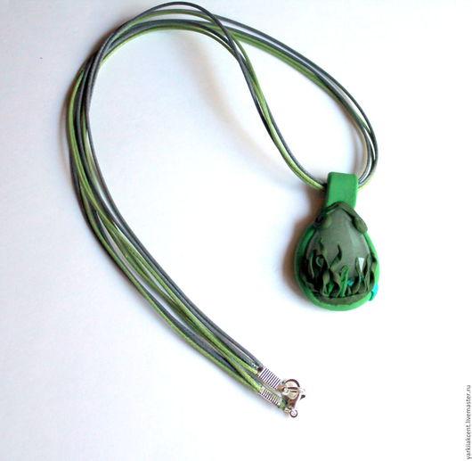 """Кулоны, подвески ручной работы. Ярмарка Мастеров - ручная работа. Купить Кулон """"На глубине"""". Handmade. Зеленый, морской"""