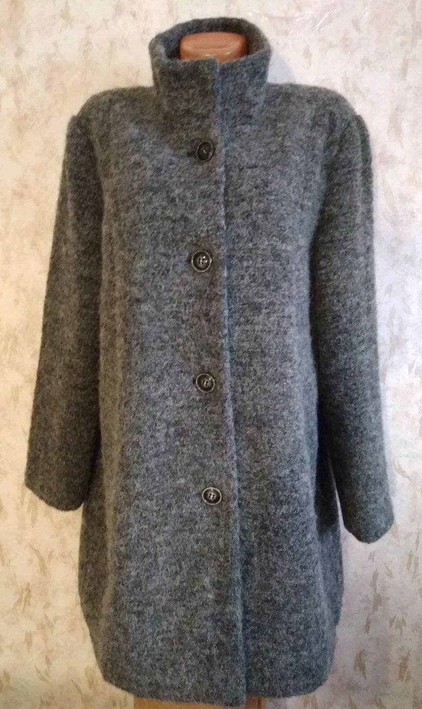 Винтаж: 56 размер Пальто из ткани с шерстью и альпакой, Одежда винтажная, Фирово,  Фото №1