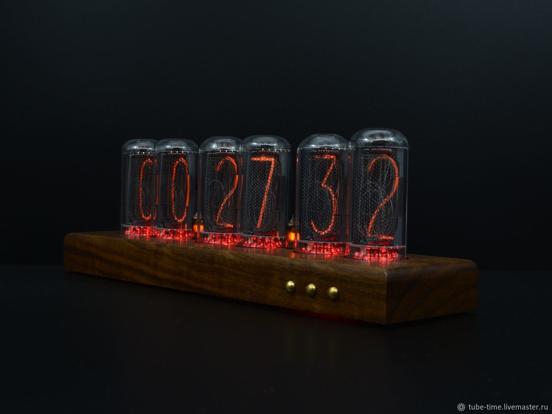 Table Lamp clock ' Black Walnut Classic IN-18», Tube clock, Moscow,  Фото №1
