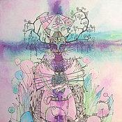 Картины и панно ручной работы. Ярмарка Мастеров - ручная работа Цветная графика.