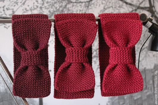 """Повязки ручной работы. Ярмарка Мастеров - ручная работа. Купить Повязка-бант """"Бордовое трио"""". Handmade. Бордовый, бантик"""