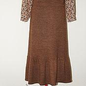 Одежда ручной работы. Ярмарка Мастеров - ручная работа Юбка теплая из шерстяного трикотажа. Handmade.