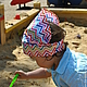 Панамы ручной работы. Ярмарка Мастеров - ручная работа. Купить Косынка на резинке. Handmade. Разноцветный, сердечки, полосатый, ромбы, треугольники