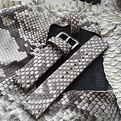 Украшения handmade. Livemaster - original item Watch band snake leather 18mm 20mm 22mm 24mm. Handmade.