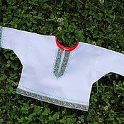 """Русский стиль ручной работы. Ярмарка Мастеров - ручная работа Рубашка """"Коляда"""" для новорожденного. Handmade."""