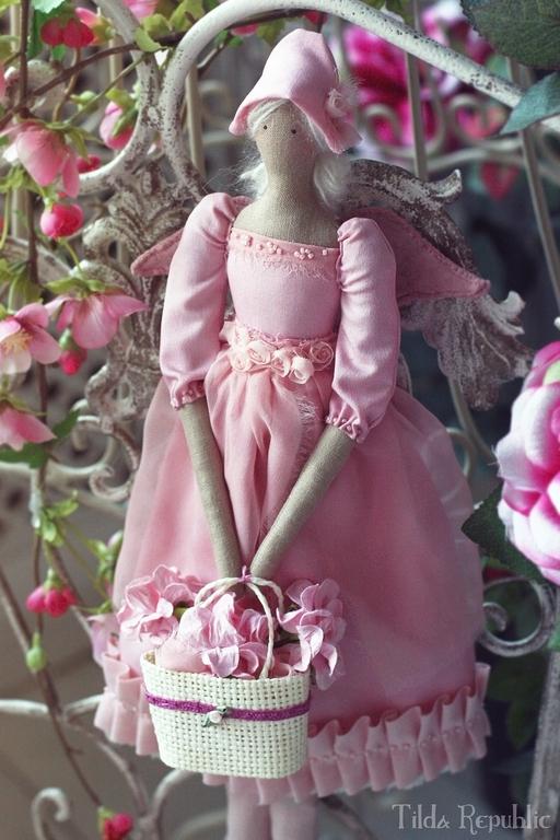 """Куклы Тильды ручной работы. Ярмарка Мастеров - ручная работа. Купить Тильда """"Во имя Розы"""". Handmade. Розовый"""