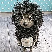 Куклы и игрушки handmade. Livemaster - original item Soft knitted toy hedgehog in the fog. Handmade.